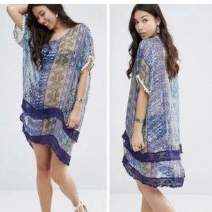 GYPSY 05  beach cover up silk Dress Sz Small NWT